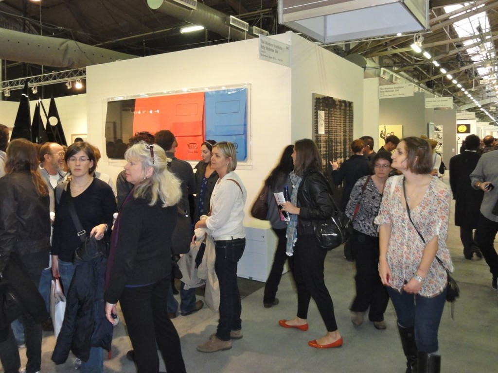 Crowds attend The Armory Show 2011