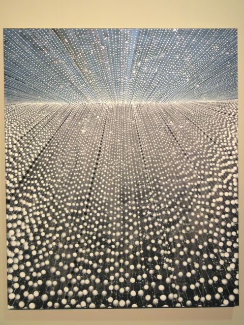 Barbara Takenaga painting at The Armory Show 2011