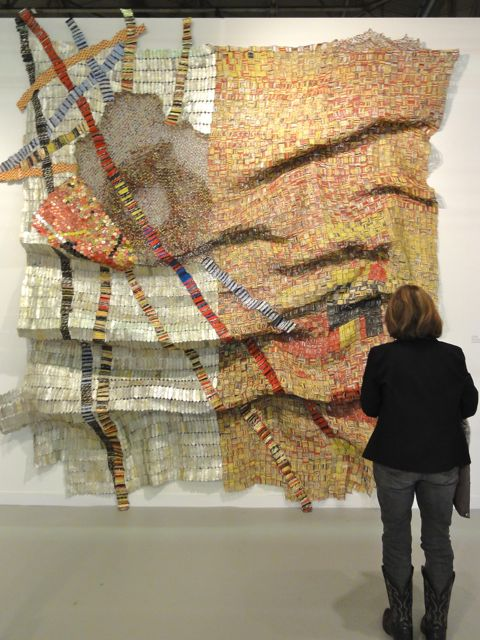 El Anatsui artwork at The Armory Show 2011