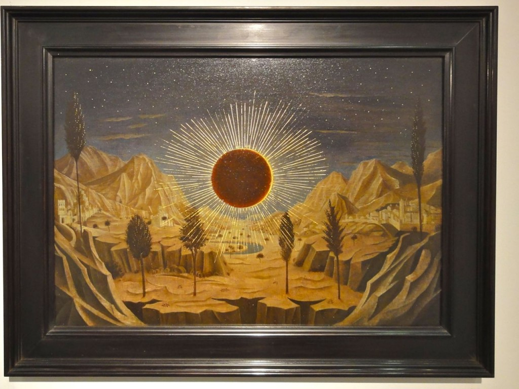 Laurent Grasso painting at The Armory Show 2011