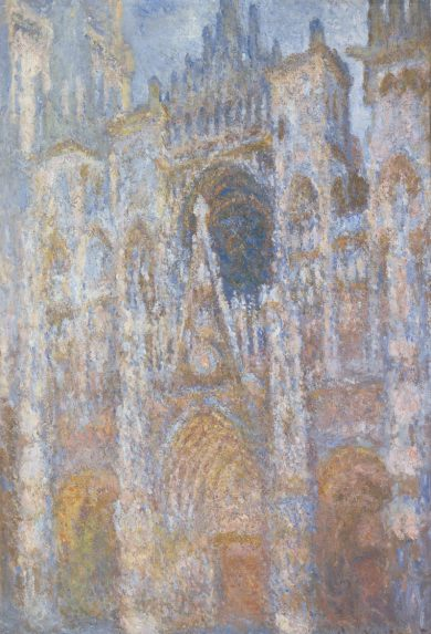 Monet's Rouen Cathedral at LACMA along with works by Roy Lichtenstein
