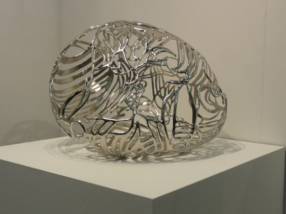 Ghada Amer Baiser 2 sculpture at The Armory Show 2012