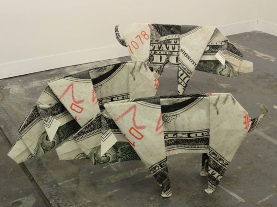 Daniel Knorr 2 Dollar Pigs at The Armory Show 2012