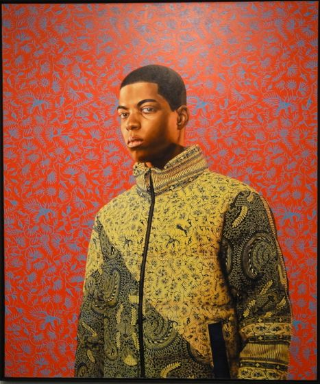 Kehinde Wiley painting at The Armory Show 2012