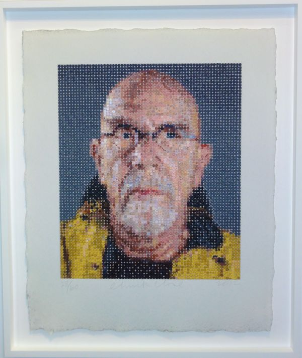 Chuck Close at The Armory Show 2013