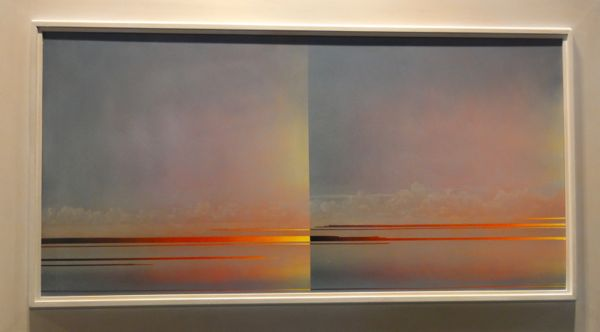 Mark Innerst, Prism, 2013, oil on board in the artist's handmade frame, 24 x 42 inches framed