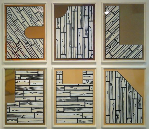 Richard Woods, Offcuts, 2013, a series of six woodcuts, each image 25.1 x 17.6 inches, ed. of 20
