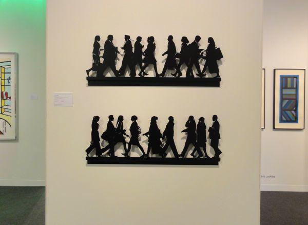 Julian Opie art Armory Show NY 2014