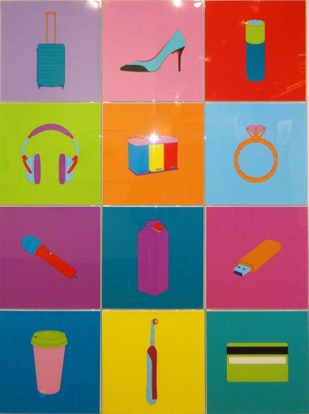 Michael Craig-Martin art Armory Show NY 2014