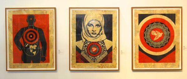 Shepard Fairey art Armory Show NY 2014
