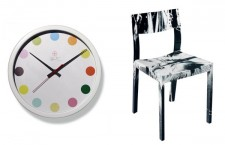 Damien Hirst Spot Clock and Spin Chair