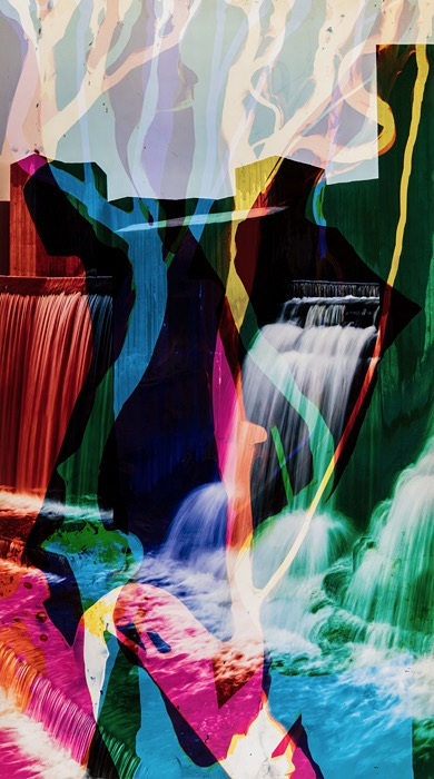 Matthew Brandt, Waterfall Series, Stepping Stone Falls 3