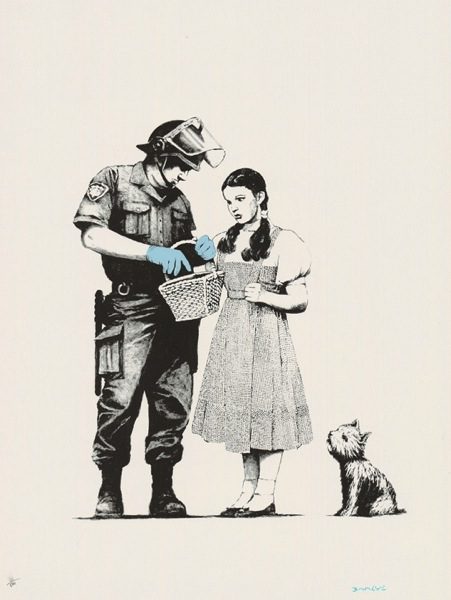 Bansky Stop and Search 2007 Signed Print